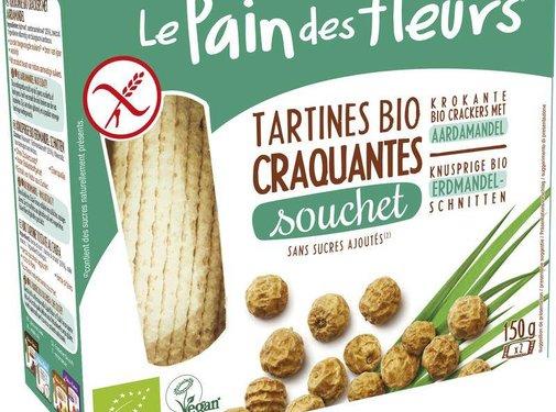 Pain Des Fleurs Souchet crackers met aardamandel