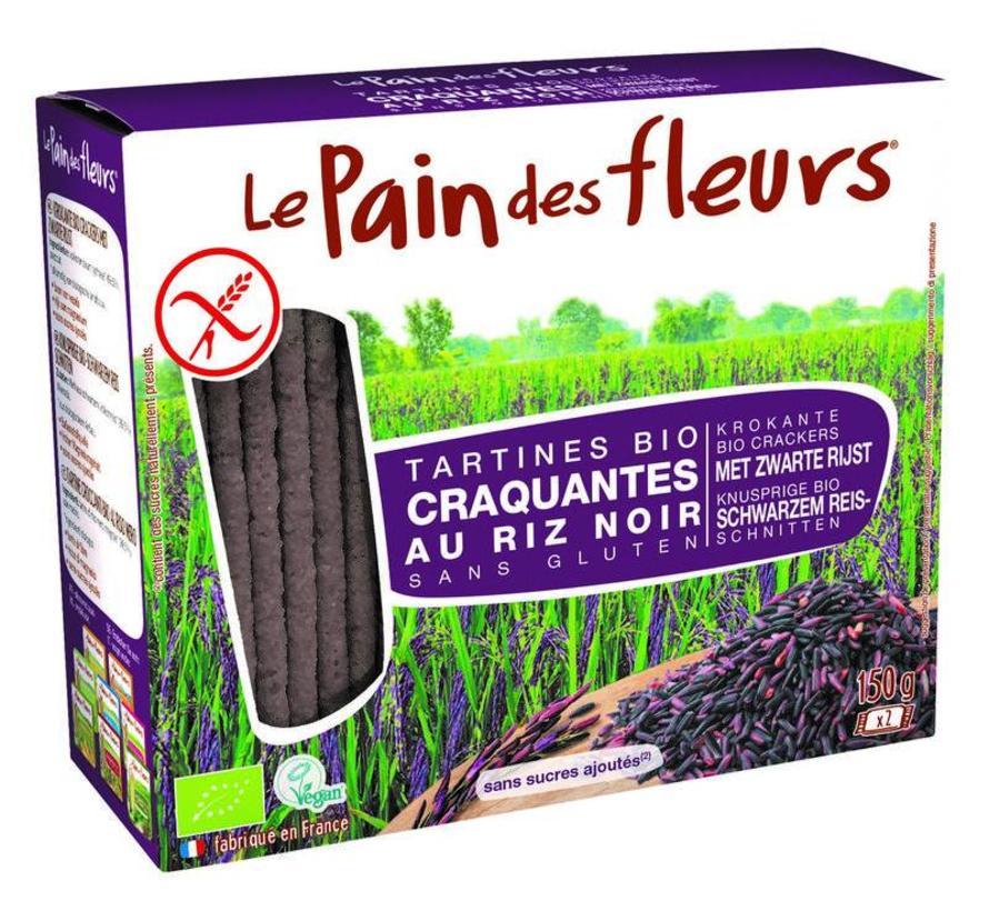 Zwarte rijst crackers Biologisch en glutenvrij