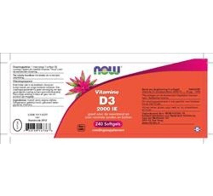 Vitamine D3 2000 IE 240 softgels