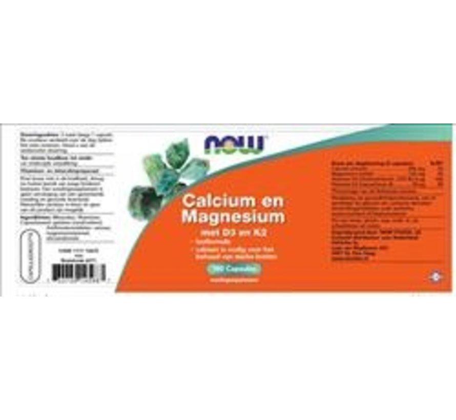 Calcium und Magnesium mit D3 und K2 (180 caps)