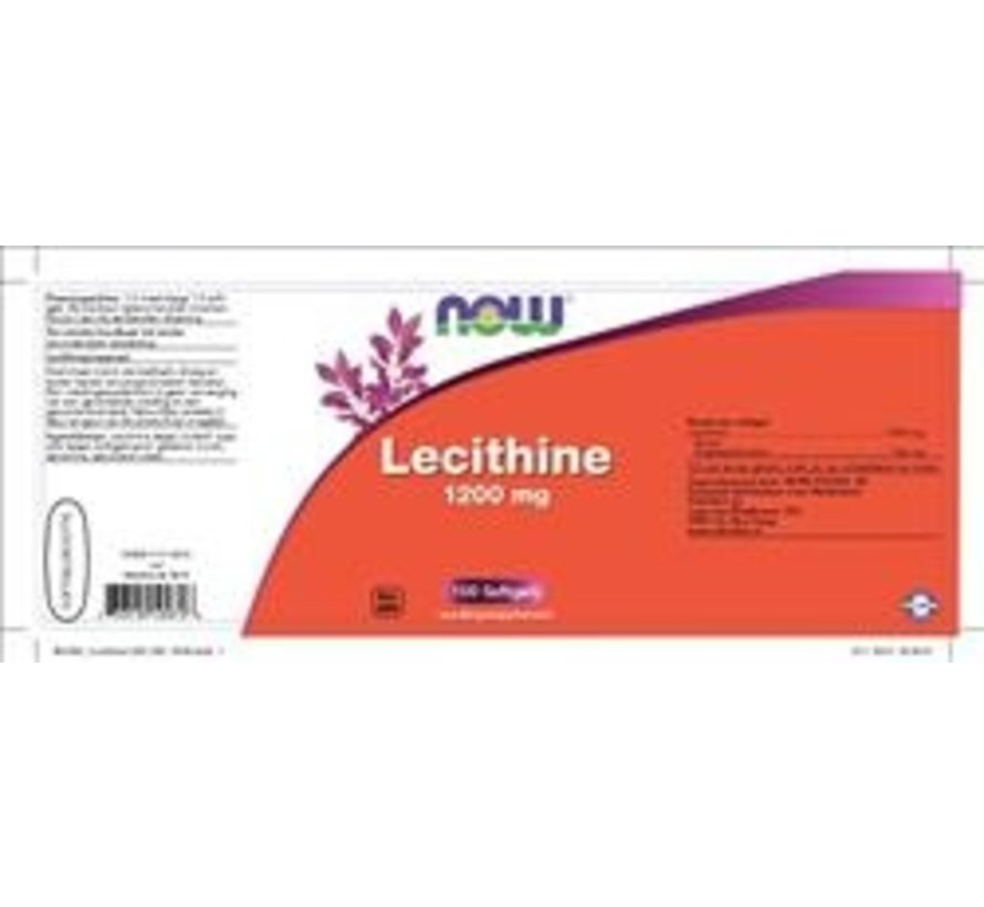 Lecithine 1200 mg  100 softgels