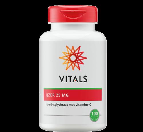 Vitals IJzer 25 mg met Vitamine C 100 capsules