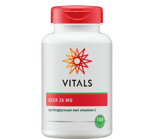 Vitals Iron 25 mg with Vitamin C 100 capsules