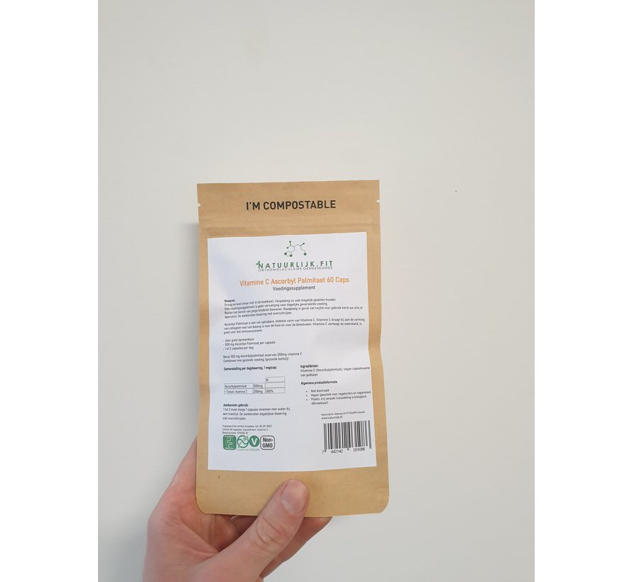 Vitamine C Ascorbylpalmitaat 60 capsules