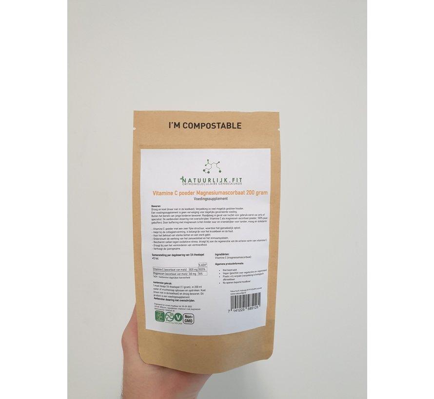 Vitamine C poeder magnesiumascorbaat 200g
