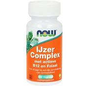 NOW Foods IJzer Complex met actieve B12 en Folaat