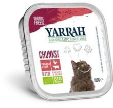 Biologisch kattenvoer chunks met kip en rund 100g