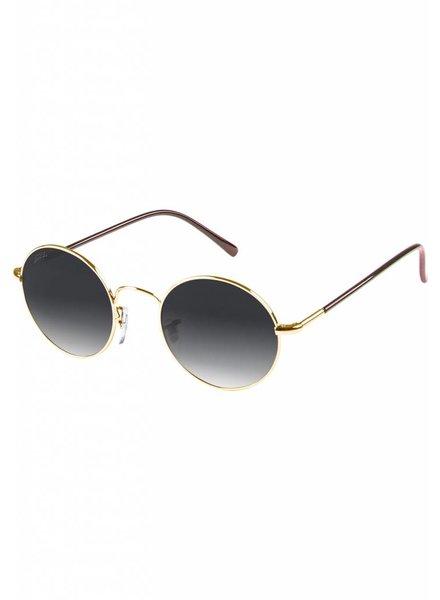 Broozz Streetwear Sunglasses Flower - Gold/Grey