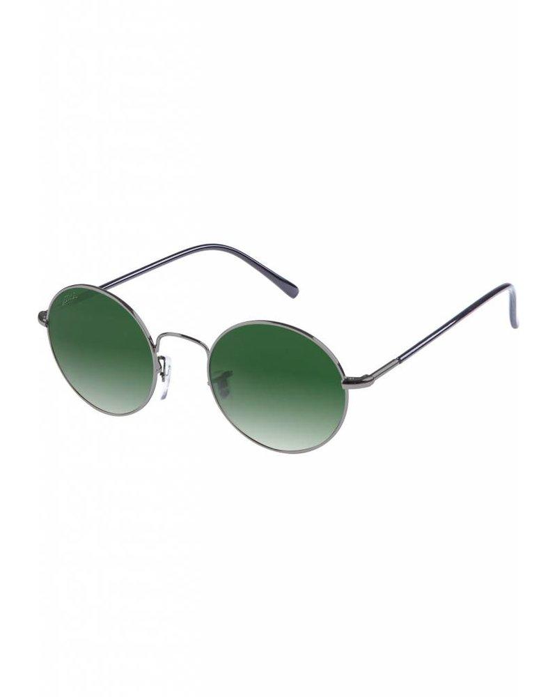 Broozz Streetwear Sunglasses Flower - Gun Metal/Green