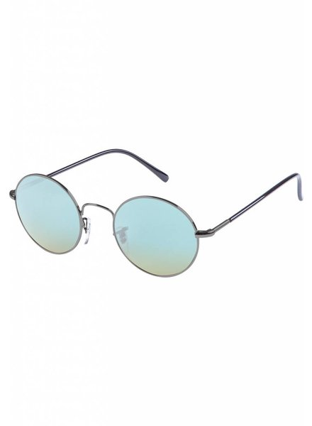 Broozz Streetwear Sunglasses Flower - Gun Metal/Blue