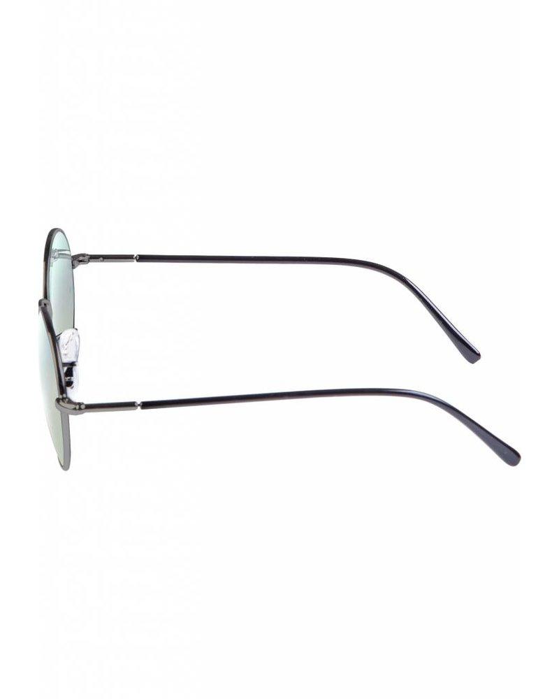 Broozz Streetwear Sunglasses Flower - Gun Metal/Blue