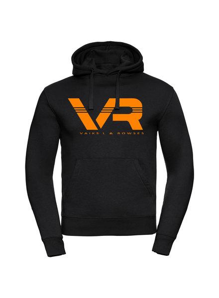 Vaiks L & Rowses Vaiks L & Rowses-Brand Women Hoodie-Zwart-Neon Oranje