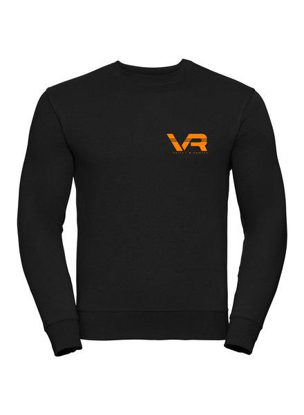 Vaiks L & Rowses Vaiks L & Rowses-Brand Men Sweater-Zwart-Neon Oranje - Klein