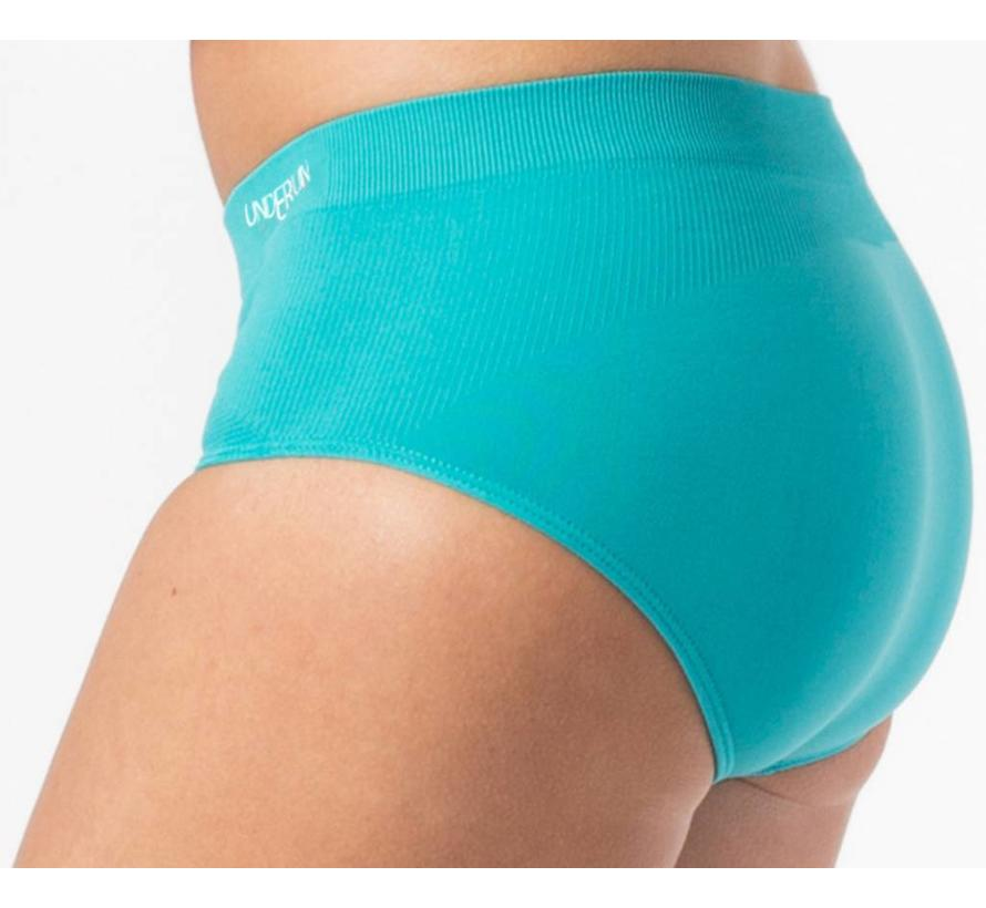 Underun hipster turquoise sportondergoed dames