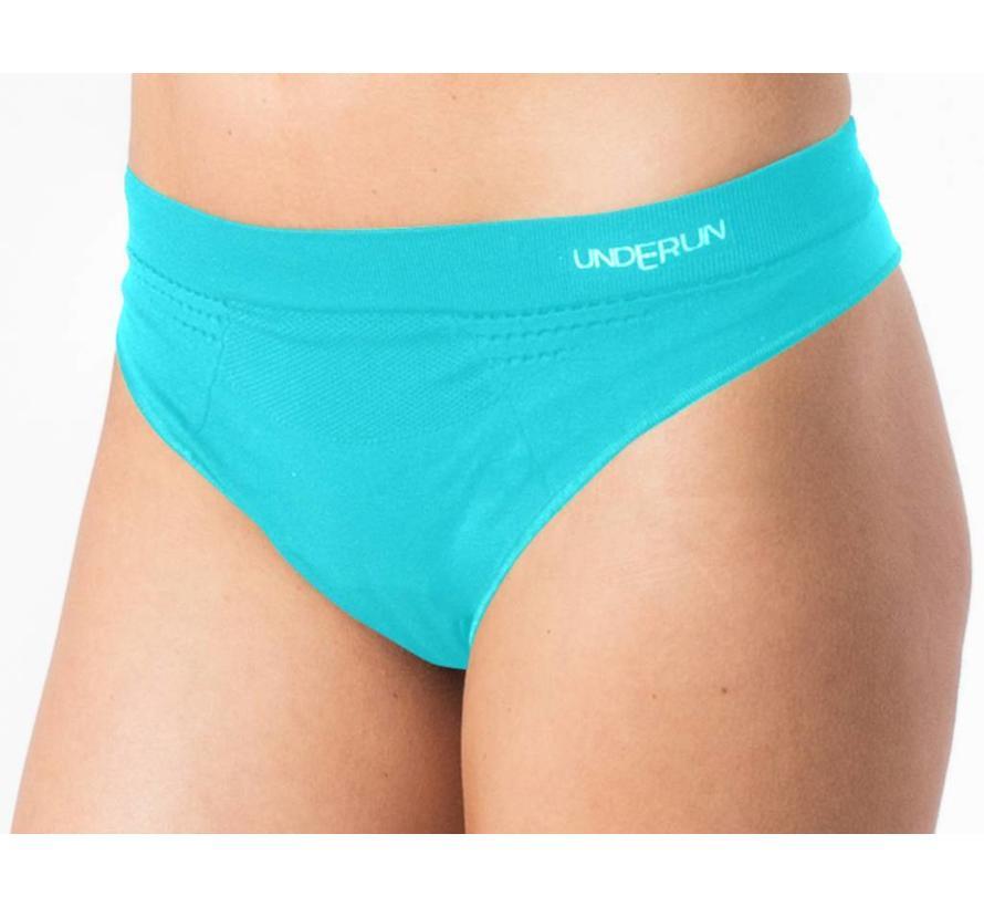 Underun string turquoise sportondergoed dames