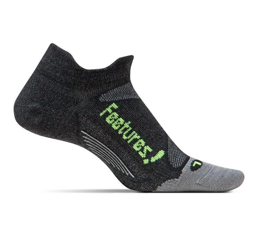 Feetures Elite Ultra Light zwart groen sportsokken uni