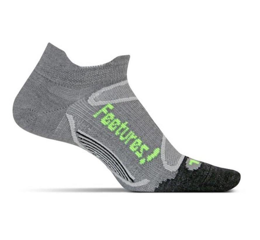 Feetures Elite Merino+ Ultra Light grijs sportsokken uni