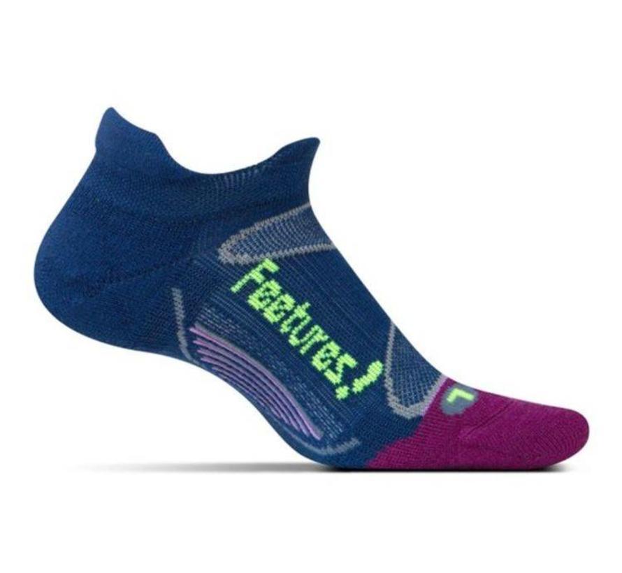 Feetures Elite Merino+ Cushion blauw sportsokken uni