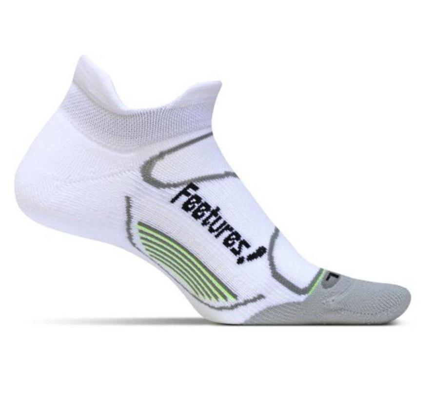 Feetures Elite Light Cushion wit grijs sportsokken uni