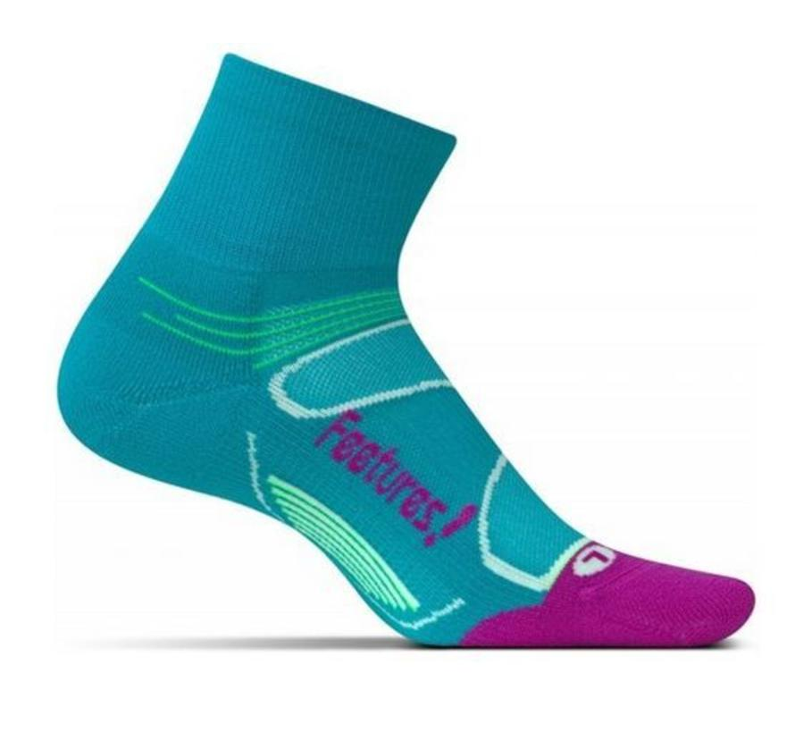 Feetures Elite Light Cushion blauw roze sportsokken dames