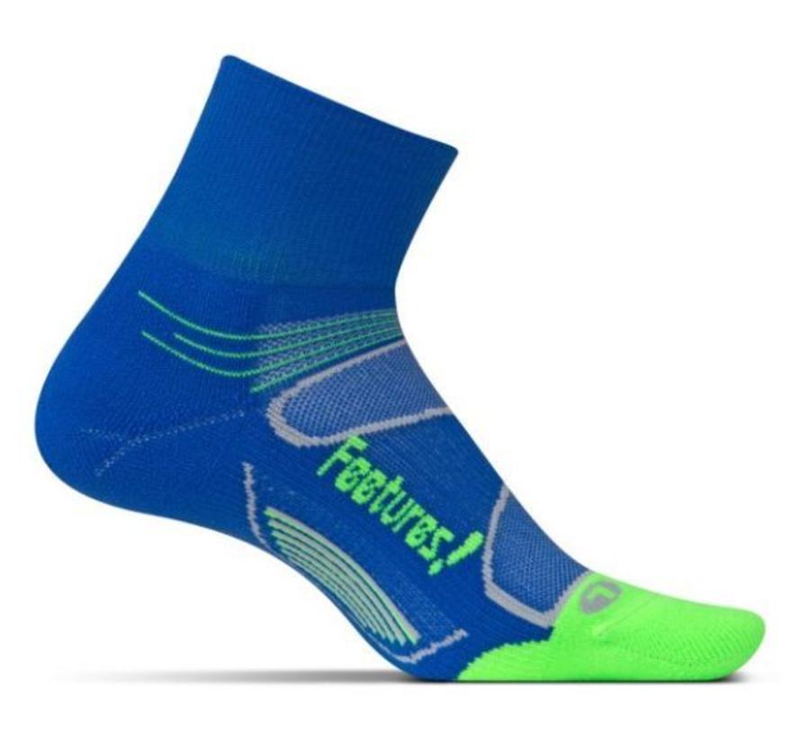 Feetures Elite Light Cushion blauw groen sportsokken uni