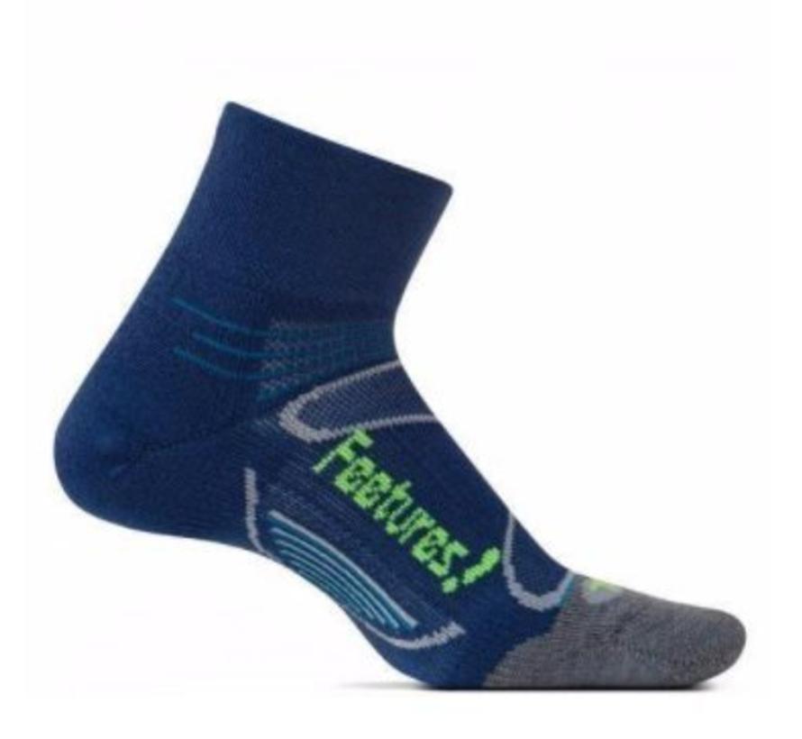 Feetures Elite Merino+ Cushion blauw grijs sportsokken uni