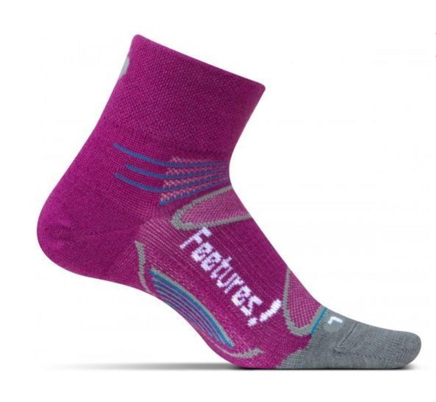 Feetures Elite Merino+ Ultra Light roze sportsokken dames