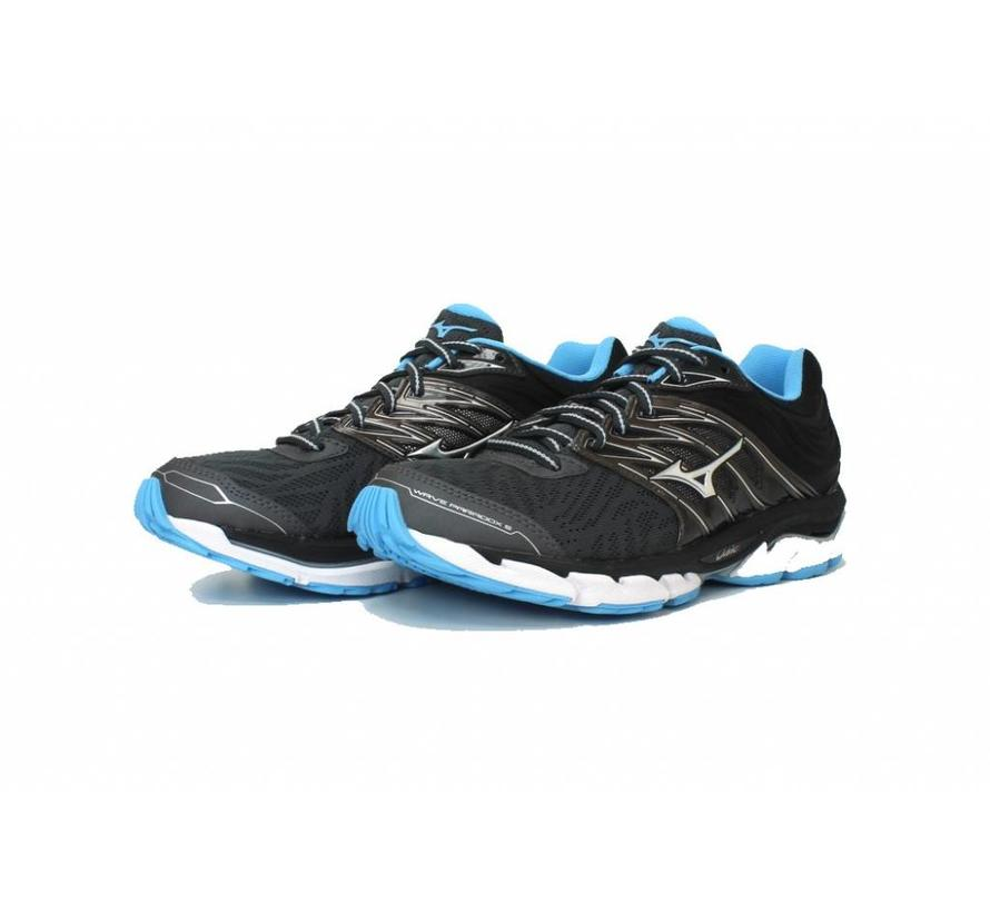 Mizuno Wave Paradox 5 zwart blauw hardloopschoenen dames