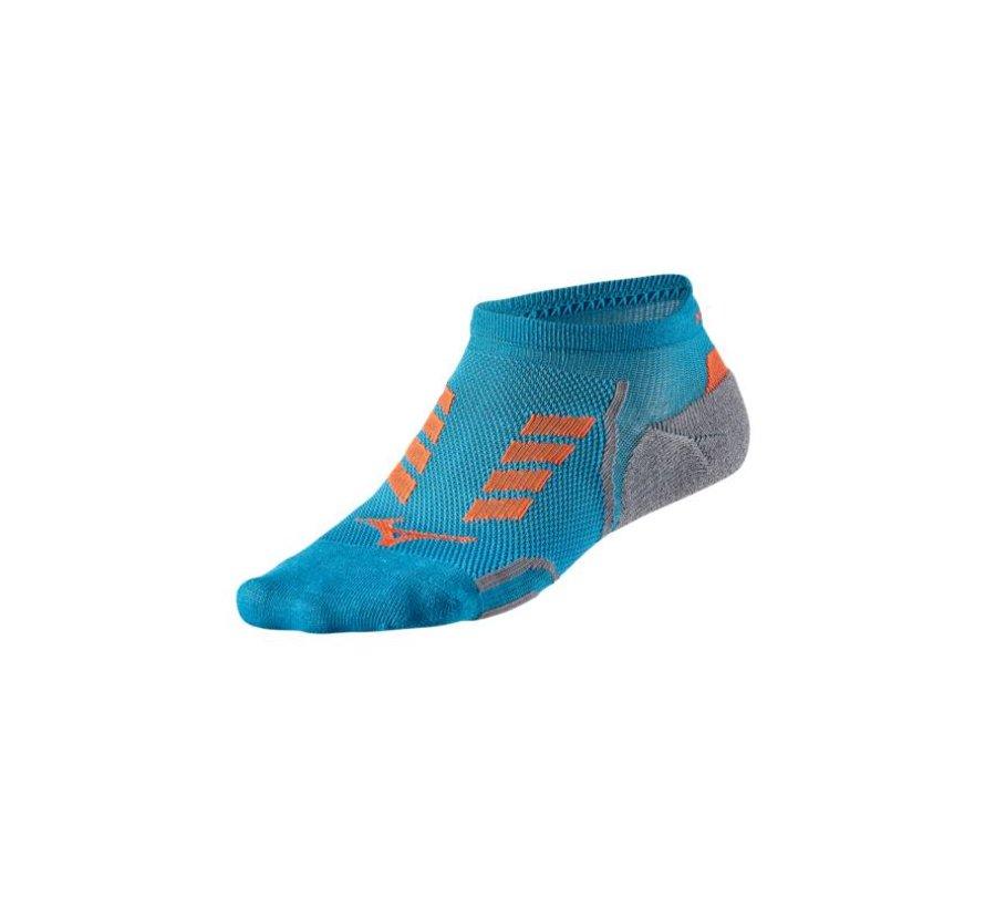 Mizuno Drylite Race Low hardloopsokken blauw uni