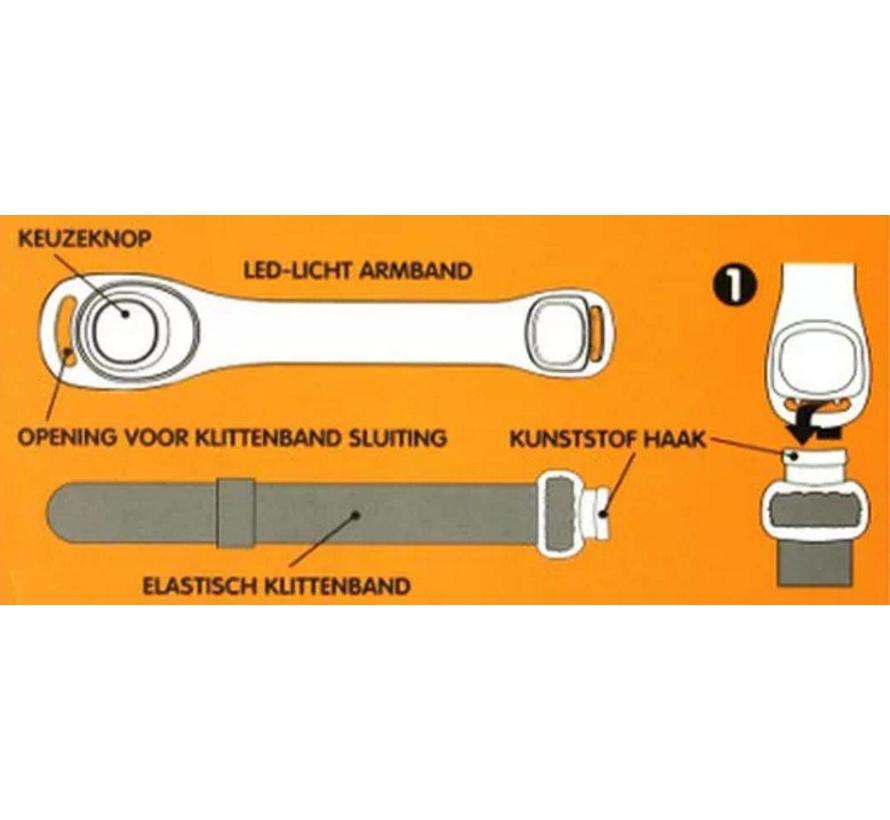 MKC Neon-LED sportarmband neon oranje