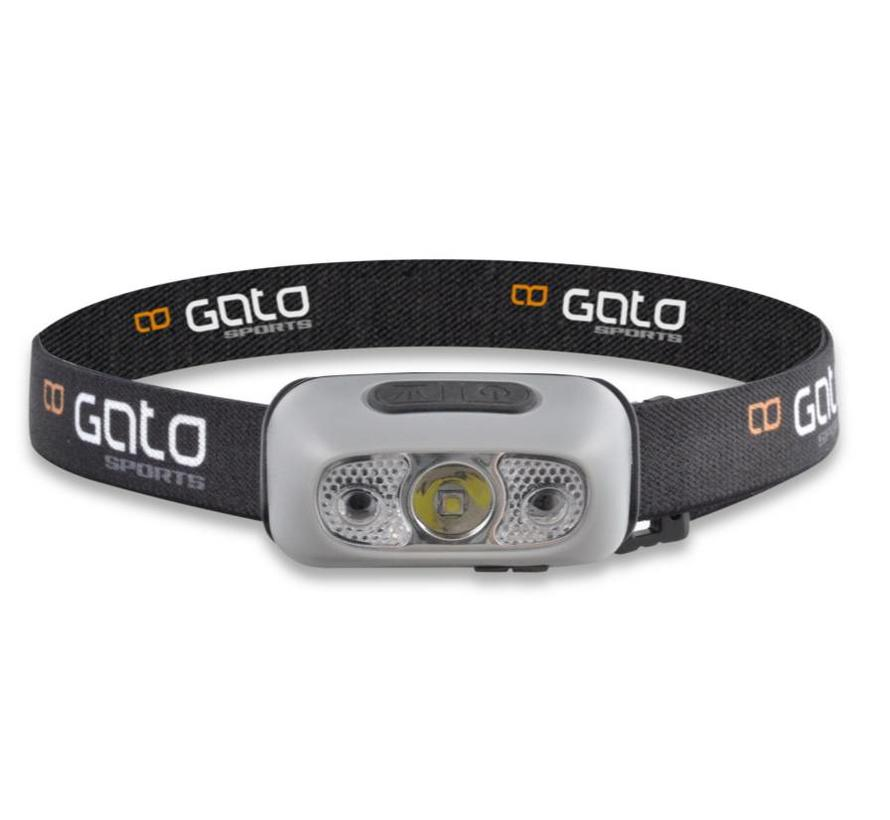 Gato Head Torch USB zwart grijs hoofdlamp unisex