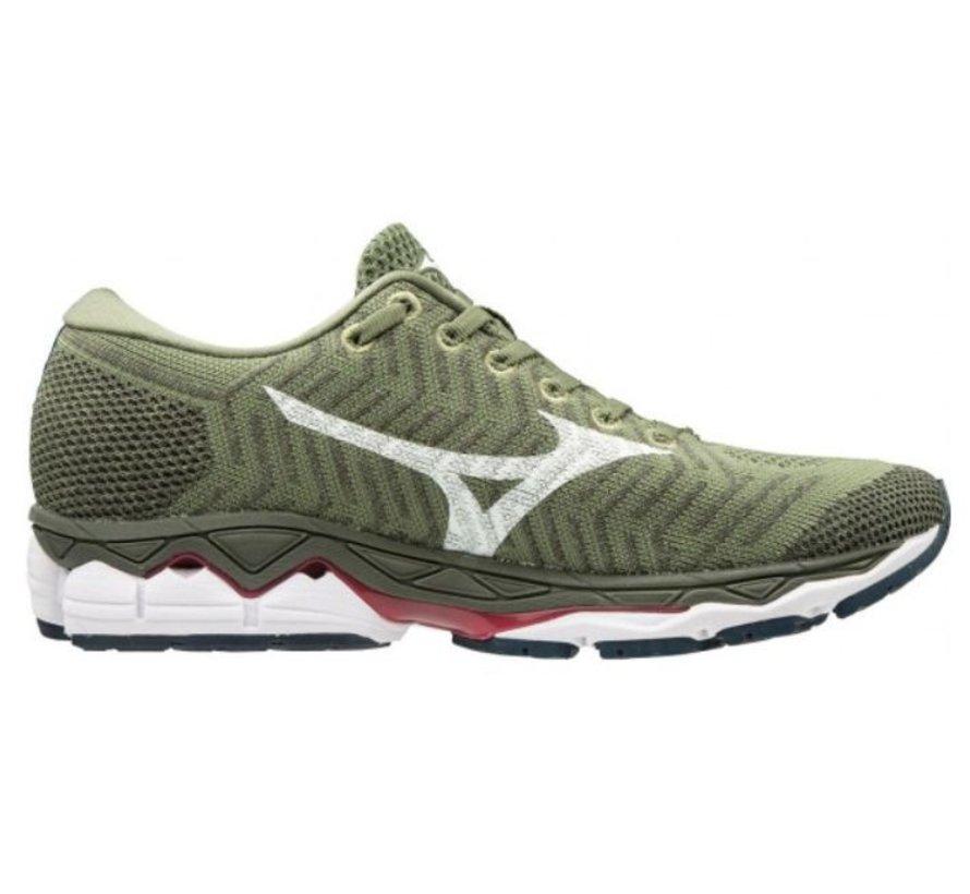 Mizuno Waveknit S1 groen hardloopschoenen dames