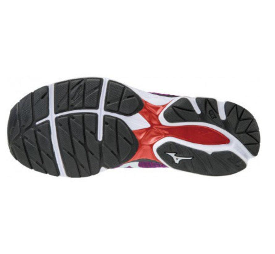 Mizuno  Waveknit R1 paars hardloopschoenen dames
