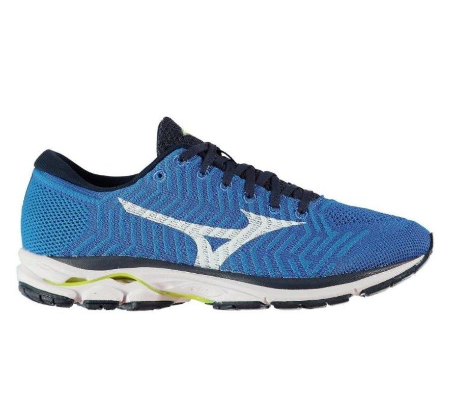 Mizuno  Waveknit R1 blauw hardloopschoenen heren