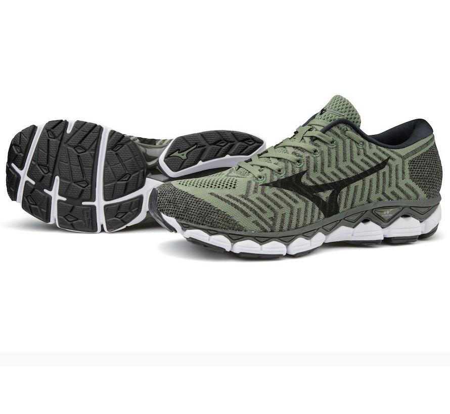 Mizuno Waveknit s1 groen hardloopschoenen heren