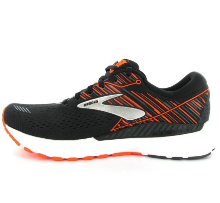 Brooks Adrenaline GTS 19 zwart oranje hardloopschoenen heren