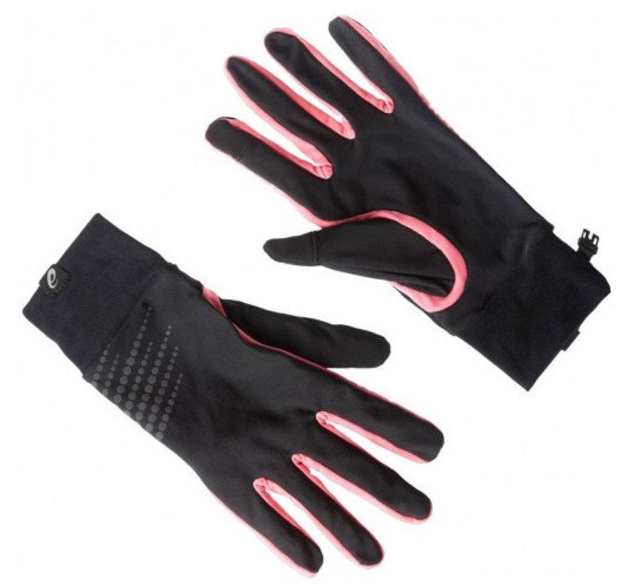 Asics Basic Performance hardloophandschoenen zwart lichtroze dames