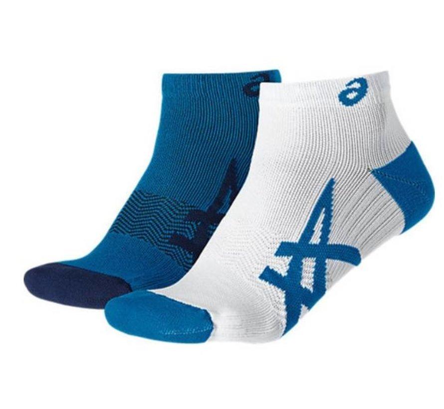 Asics Lightweight hardloopsokken wit blauw uni (2pack)