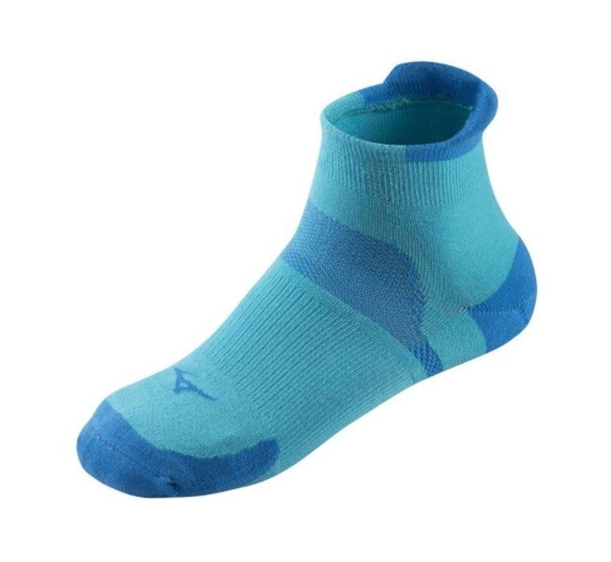 Mizuno Drylite Race laag hardloopsokken 2 paar blauw uni