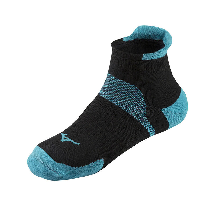 Mizuno Drylite Race laag hardloopsokken 2 paar blauw zwart