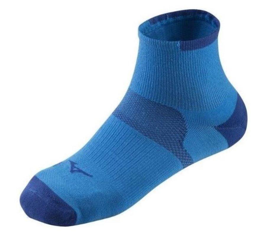 Mizuno Drylite Race Mid hardloopsokken 2 paar blauw