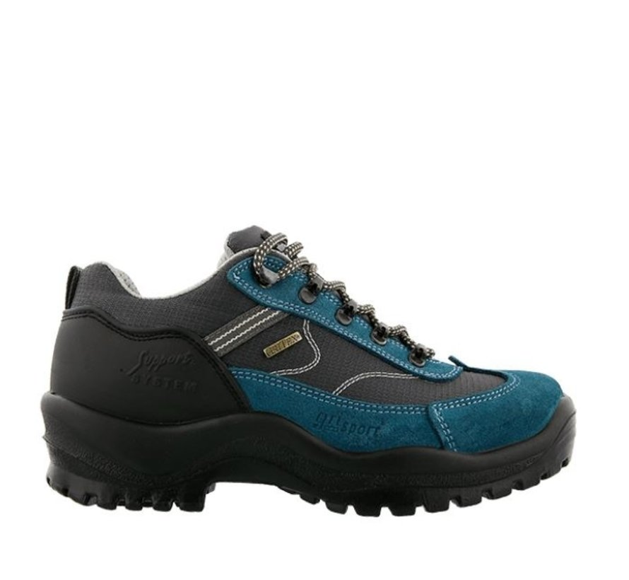 Grisport Torino Low azuurblauw wandelschoenen dames
