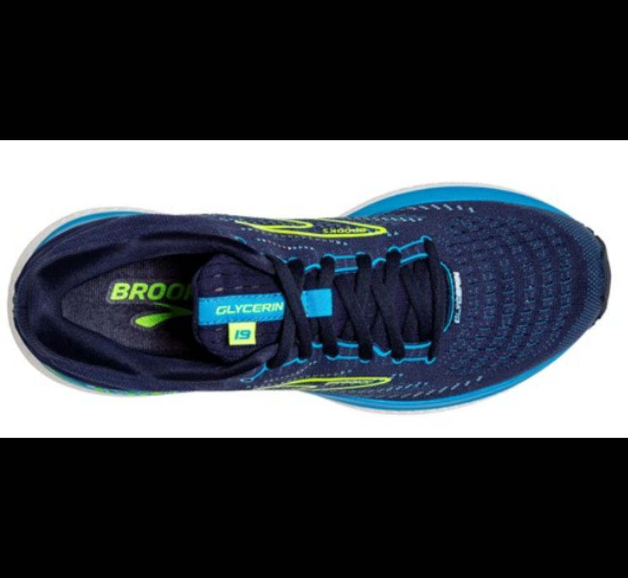 Brooks Glycerin GTS 19 blauw  hardloopschoenen heren