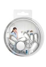 Pakke: Picture Mouse Solo med 6 stk musemagneter (hvit)