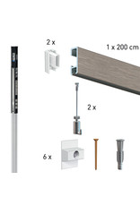Artiteq Click Rail alt-i-ett sett  Twister snor+ 15 kg krok