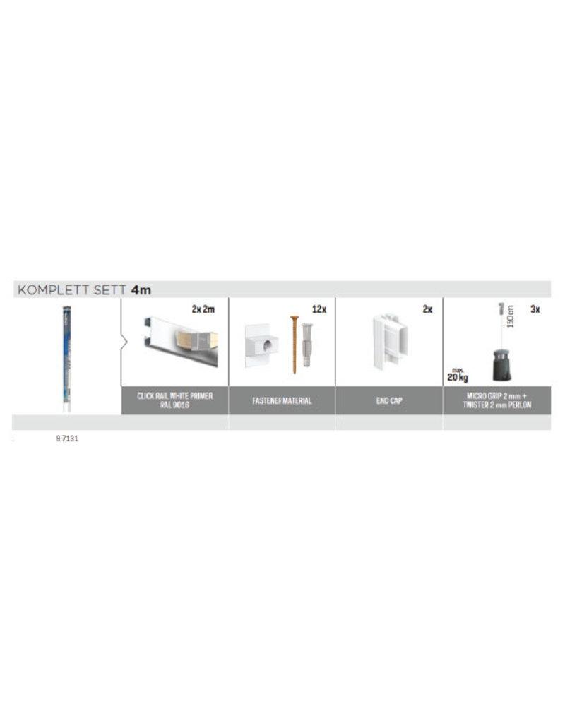 Artiteq Click Rail alt-i-ett sett Twister snor + Micro Grip 20kg
