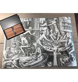 Set kleurpotloden en kleurplaat 'De Magere Keuken'  Bruegel