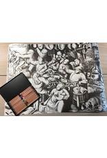 Set kleurpotloden en kleurplaat 'De Vette Keuken' Bruegel