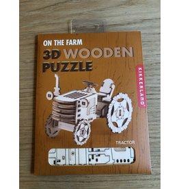 Houten 3D puzzel Tractor