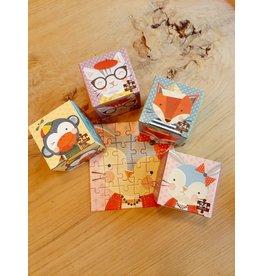 Set vier puzzels 'funny petit'
